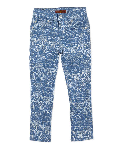 7 For All Mankind Jacquard Skinny Pants, Girls' Sizes 4-6X