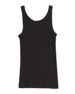 Vince Girls' Favorite Ribbed Tank Top, Black, 4-6X