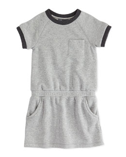 Vince Girls' French Terry Dress, Heather Gray, 4-6X