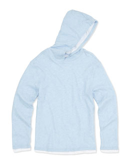 Vince Double-Layer Hoodie, Blue, S-XL