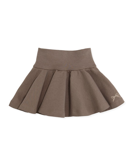 Lili Gaufrette La Recree Pleated Skirt, Dark Brown, Girls' 8-12