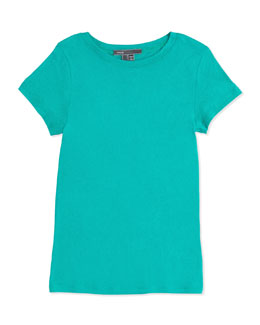 Vince Girls' Favorite Tee, Peacock Blue, 4-6X