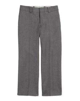 Woodsman Flat-Front Suit Pants, Light Gray, 2T-3T