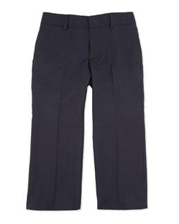 Woodsman Flat-Front Suit Pants, Navy, 2T-3T
