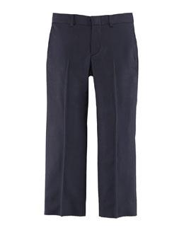 Woodsman Flat-Front Suit Pants, Navy, Sizes 3-7