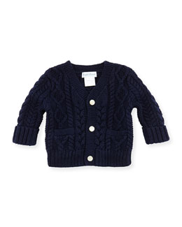 Ralph Lauren Childrenswear Cotton Cable-Knit Cardigan, 3-12 Months