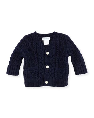 Ralph Lauren Childrenswear Cotton Cable-Knit Cardigan, 3-12 Months
