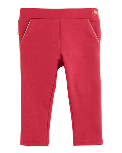Little Marc Jacobs Milano Ruffle-Trim Pants, Red, 3-18 Months