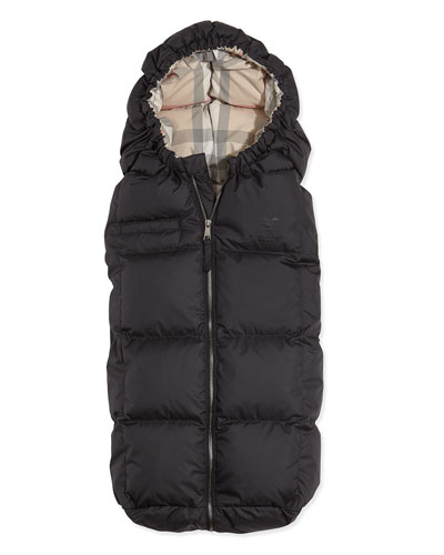 Burberry Quilted Puffer Cocoon Sleeper, Black