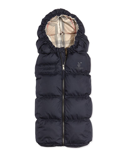 Burberry Quilted Puffer Cocoon Sleeper, Navy