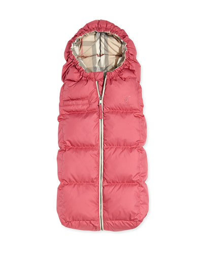 Burberry Quilted Puffer Cocoon Sleeper, Pink
