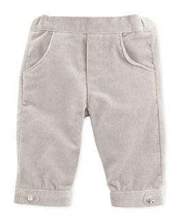 Tartine et Chocolat Girls' Velour Pants, Gray, 6M-2T