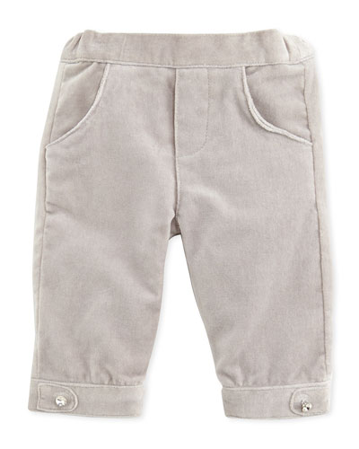 Tartine et Chocolat Girls' Velour Pants, Gray, 6M-2T