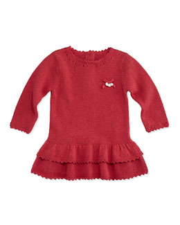 Tartine et Chocolat Girls' Ruffle Knit Dress, Pink, 3M-2T