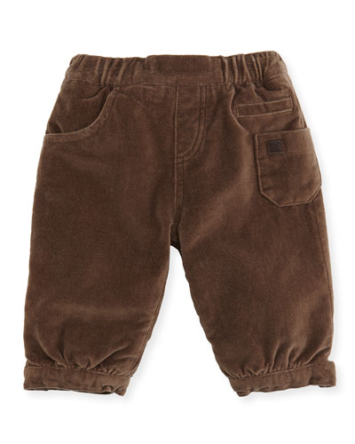 Tartine et Chocolat Boys' Velour Pants, Brown, 3-24 Months