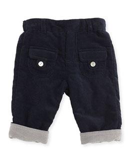 Tartine et Chocolat Reversible Corduroy Pants, Navy/Gray, 3M-2T
