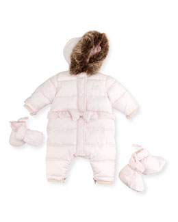 Tartine et Chocolat Snowsuit with Mittens & Booties, Pink, 3M-2T