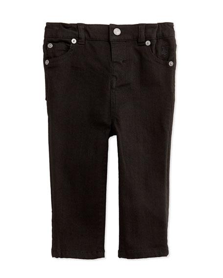 Burberry Five-Pocket Denim Trousers, Black, 3-24 Months