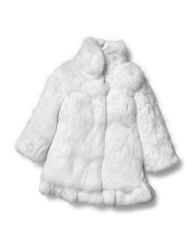 Adrienne Landau Rabbit Fur Coat, Girls' Sizes 2-12