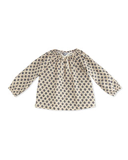 Busy Bees Stella Printed Gypsy Top, Blue/Cream, 3-24 Months