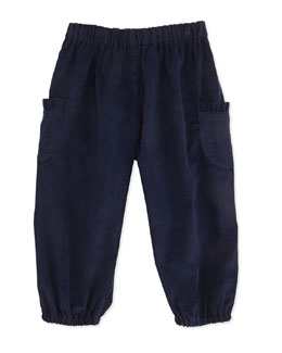 Busy Bees Charlotte Corduroy Pants, Navy, 3-24 Months
