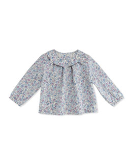 Busy Bees Sadie Floral-Print Tunic Top, Purple, 3-24 Months
