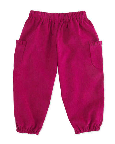 Busy Bees Charlotte Corduroy Pants, Magenta, 3-24 Months