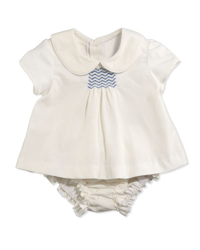 Busy Bees Evie Corduroy Top and Bloomers, Cream, 3-24 Months