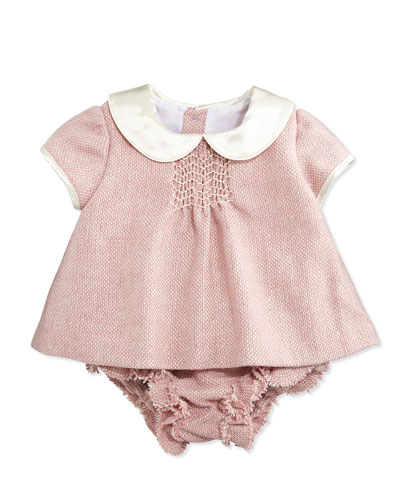 Busy Bees Evie Tweed Top & Bloomer Set, Pink