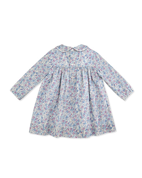 Ginny Floral-Print Dress, Purple, 3-24 Months