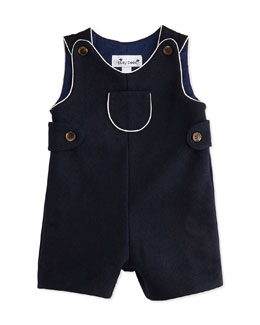 Busy Bees Jack Classic Short Overalls, Navy, 3-24 Months