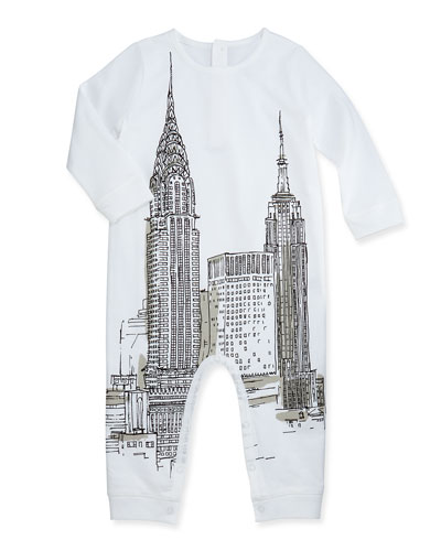 Burberry New York-Sketch Long-Sleeve Bodysuit, 3-24 Months