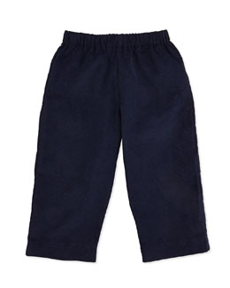 Busy Bees Luke Corduroy Pants, Navy, 3-24 Months