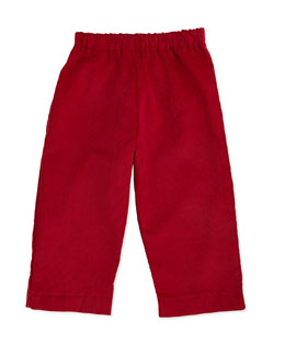Busy Bees Luke Corduroy Pants, Red, 3-24 Months