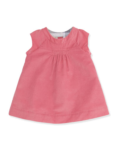 Burberry Newborn Corduroy Dress with Bloomers, Camelia Pink, 3-24 Months