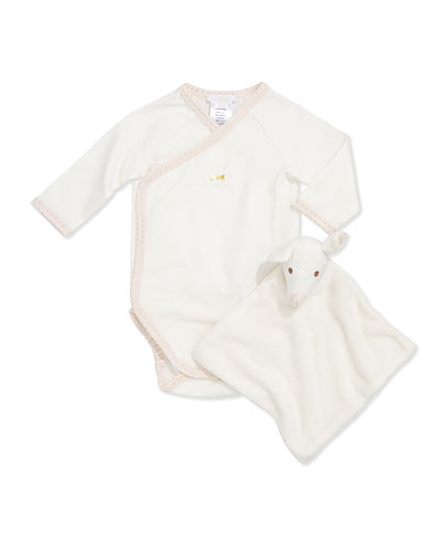 Chloe Jersey Bodysuit &  Security Blanket Gift Set, 3-18 Months