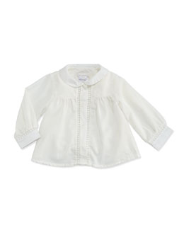 Chloe Woven Blouse with Lace-Trim, Off White, 2A-3A