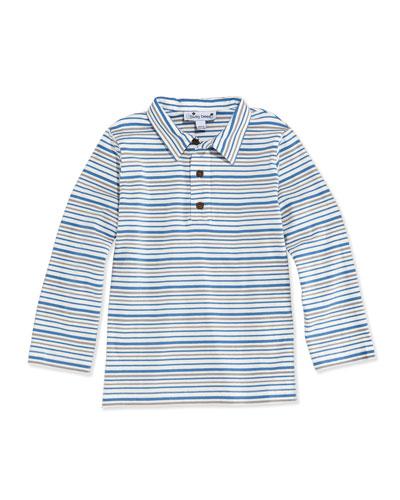 Multi-Striped Long-Sleeve Polo, 3M-12Y