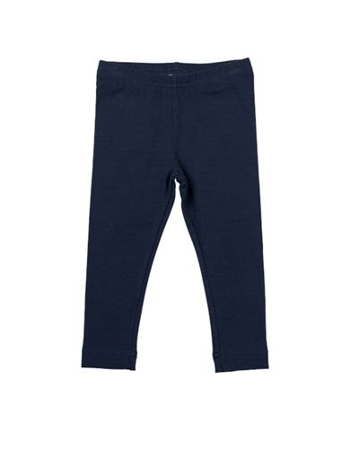 Florence Eiseman Stretch-Knit Leggings, Navy, 12-24 Months