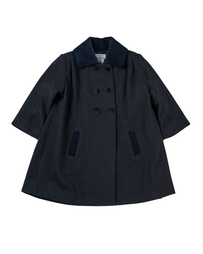 Florence Eiseman Classic Pea Coat, Navy, 12-24 Months