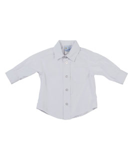 Florence Eiseman Photo-Op Button-Down Shirt, White, 2T-4T