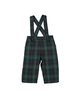 Florence Eiseman Photo-Op Plaid Trousers with Suspenders, 2T-4T