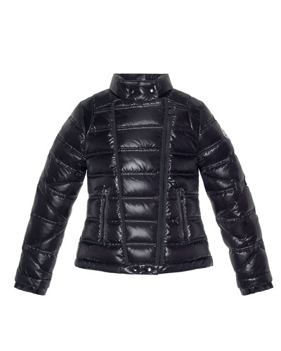 Moncler Nolwen Quilted Nylon Coat, Black
