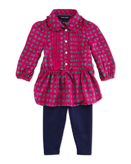 Ralph Lauren Childrenswear Paisley-Print Tunic & Leggings Set, 9-24 Months