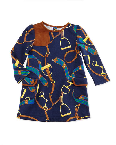 Ralph Lauren Childrenswear Equestrian-Print Jersey Dress, 9-24 Months