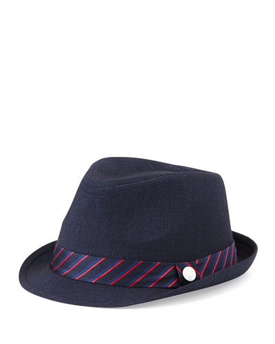 Andy & Evan Monte Carlo Boys' Cotton Fedora, Navy, 2T-7Y