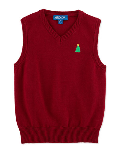 Andy & Evan Christmas Sweater Vest, 3-24 Months