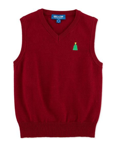Andy & Evan Christmas Sweater Vest, 2T-7Y