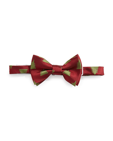 Andy & Evan Christmas Tree Bow Tie, Red