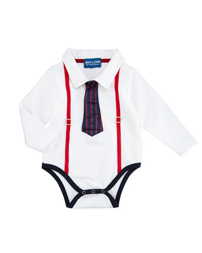 Andy & Evan Polo Shirtzie w/Tie, 3-24 Months